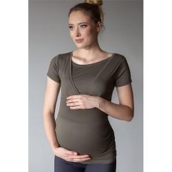 Těhotenské a kojící triko Miracle olivová.