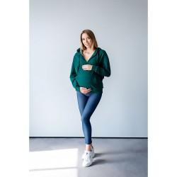 Těhotenská a kojící mikina Miracle smaragrová.