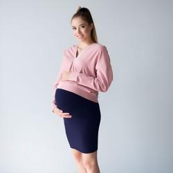 Těhotenská sukně Miracle se zvýšeným pasem tmavě modrá.