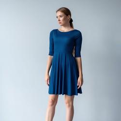 Těhotenské a kojící šaty Miracle modročerný proužek.