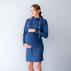 Sportovní kojící šaty Miracle s funkčními náplety modrá.