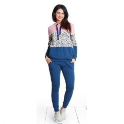 Těhotenské kalhoty Girl gang navy pants