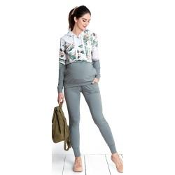 Těhotenské kalhoty Girl gang khaki pants