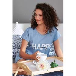 Těhotenská noční košilka Elean H pro kojení modrá