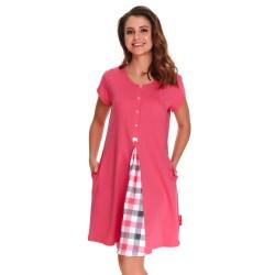 Těhotenská noční košilka Lena pro kojení růžová