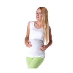 Těhotenské a kojící tílko TOP - bílá