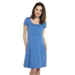 Těhotenské a kojící šaty LULLA - modrá