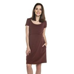 Těhotenské a kojící šaty LULLA - burgundy
