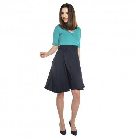 Těhotenské a kojící šaty ROXANE - turquoise