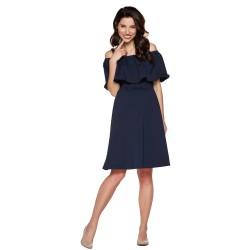 Těhotenské a kojící šaty MIMI BE - tmavě modrá