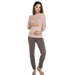 Těhotenská halenka AVI - světle růžová