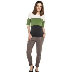 Těhotenská a kojící halenka TUPI - green