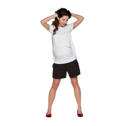 Těhotenská a kojící halenka SAGE - KR bílá