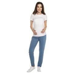 Těhotenské volnočasové kalhoty DAFFY - modrá