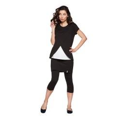 Těhotenské legíny se sukní PENTI - krátké černé