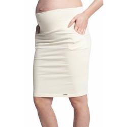 Těhotenská sukně MIA SUMMER - krémová
