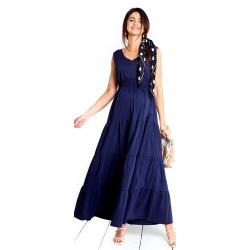 Těhotenské a kojící šaty NOMADE NAVY - tmavě modrá