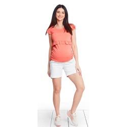 Těhotenská a kojící halenka FRILLY CORAL - oranžová
