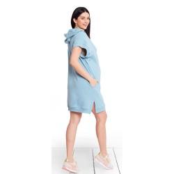 Těhotenské a kojící šaty MIMI BABY BLUE
