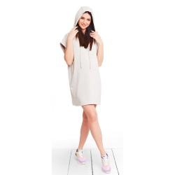 Těhotenské a kojící šaty MIMI PERLA DRESS - béžová