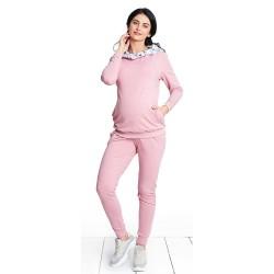 Těhotenské tepláky GIRL GANG - růžová