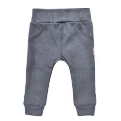 Kojenecké kalhoty z žebrovaného úpletu - tmavě šedá