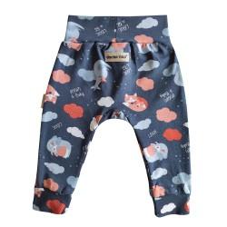 Kojenecké kalhoty se zvířátky - tmavě modrá
