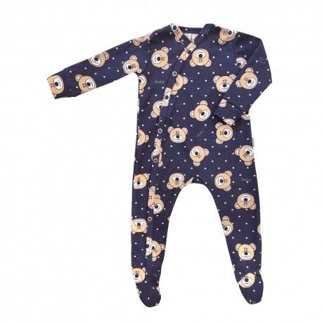 Kojenecký overal s medvídky - BIO bavlna