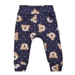 Kojenecké kalhoty s medvídky - BIO bavlna