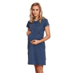 Těhotenská a kojící noční košile - tmavě modrá