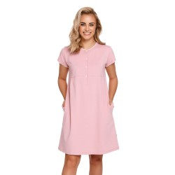Těhotenská a kojící noční košile - světle růžová