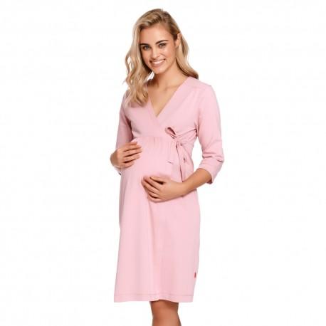 Těhotenský zavinovací župan - světle růžová