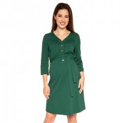 Těhotenské a kojící šaty ALISON - tmavě zelená