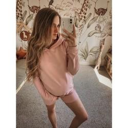 Těhotenská a kojící mikina MARGO - pudr růžová