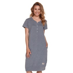 Těhotenská a kojící noční košile - tmavě šedá