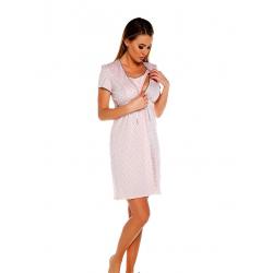 Těhotenská noční košilka Felicita  růžová