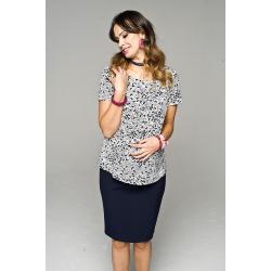 Těhotenská halenka Fissi krátký rukáv