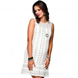 Těhotenské šaty Forli bílé