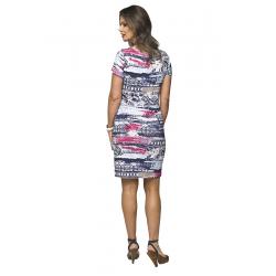 Těhotenské kojící šaty Mino III krátký rukáv