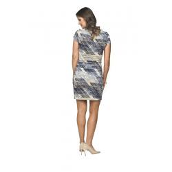 Těhotenské kojící šaty Mino I krátký rukáv