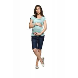 Těhotenské kraťasy Grig jenas tmavě modrá