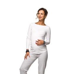 Těhotenská halenka Basic bílá