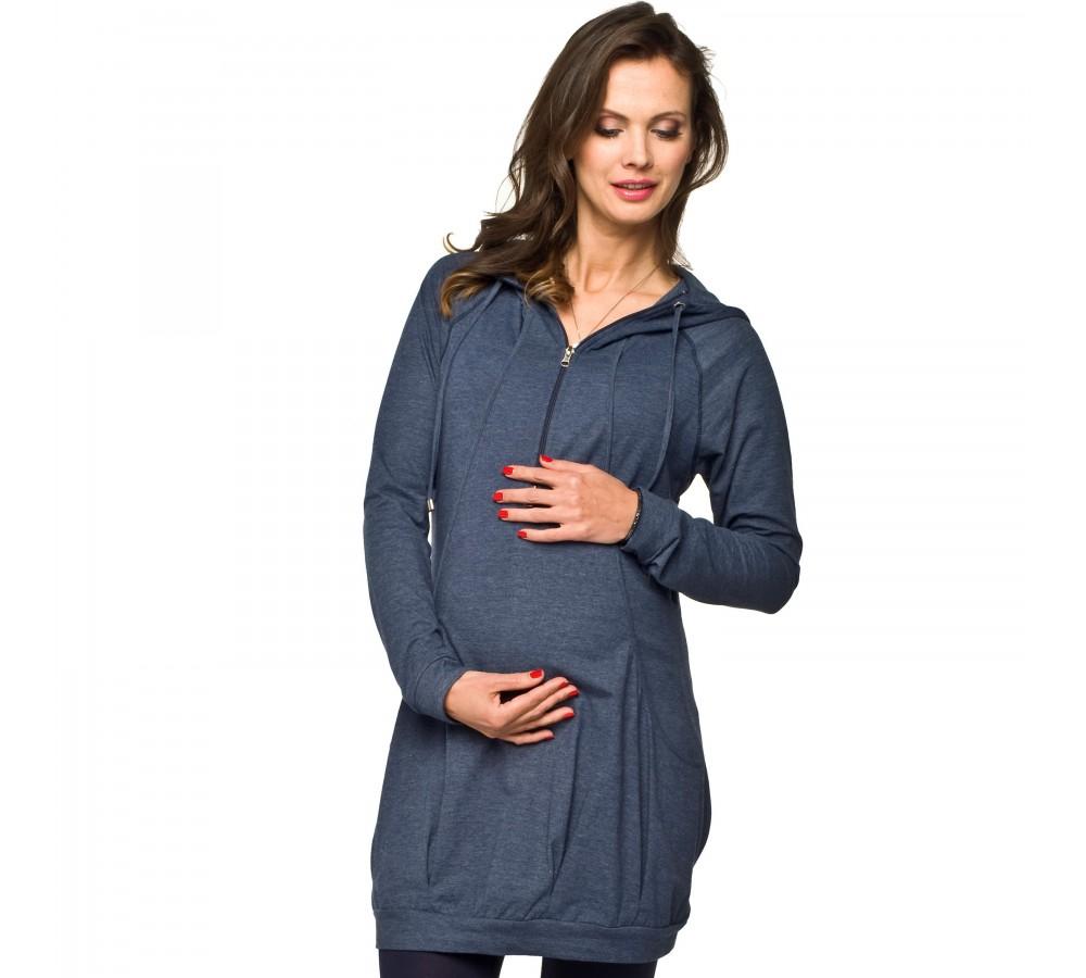 Těhotenská a kojící tunika Leria modrá   Móda TaLeTi 5b0d95b10b