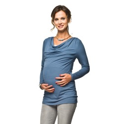 Těhotenská a kojící tunika Tollo modrá