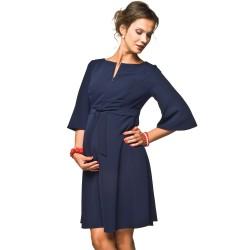 Těhotenské a kojící šaty Nimis tmavě modré