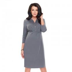 Těhotenské a kojící šaty ICY šedé