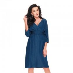 Těhotenské a kojící šaty BERRY  indigo