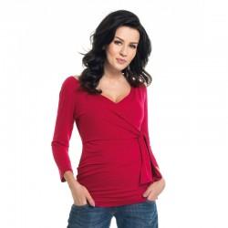 Těhotenská a kojící halenka PATRICE červená