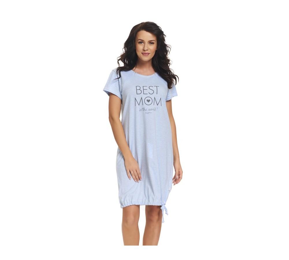 Těhotenská noční košilka Elean modrá