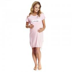 Těhotenská noční košilka Elean 1  pro kojení růžová